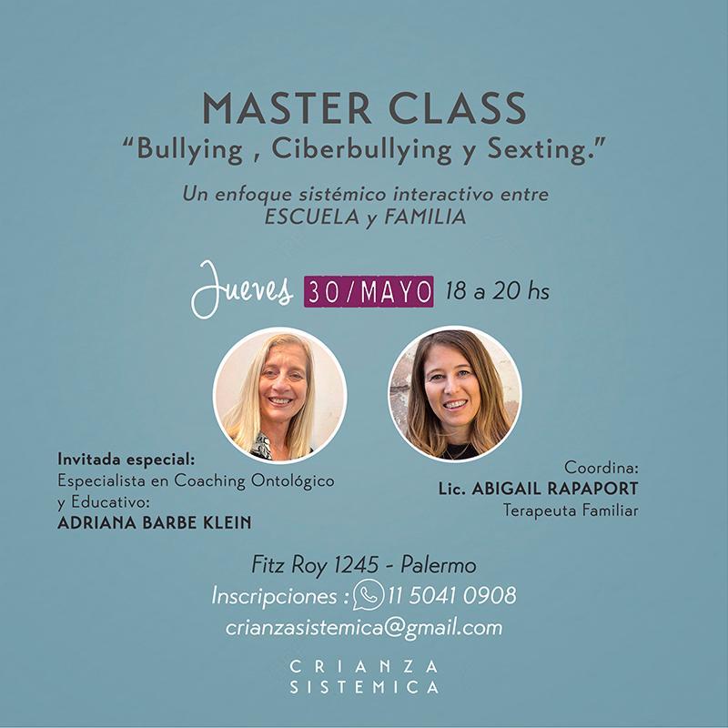 MasterClass sobre Bullying, Ciberbullying y Sexting